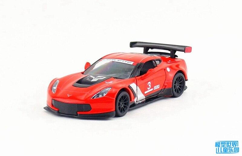 Kinsmart 1pc 12.5cm 1:36 Chevrolet 2016 CorvetteZ06 C7.R racing version of the alloy model toy gift