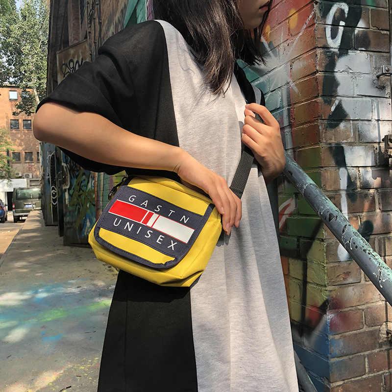 CASMOR Moda Mulheres bolsas de Ombro Casual Hip hop Populares Sacos Do Mensageiro Para As Meninas Da Lona Amarela Partido Flap Crossbody Sacos