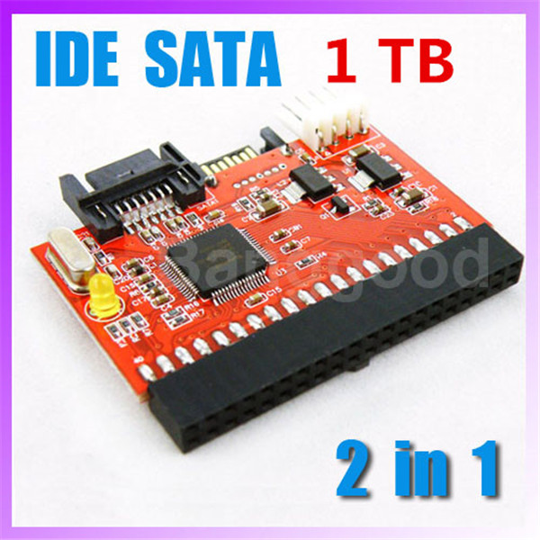 HOT High Quality 2 In 1 3.5 IDE to Serial ATA / SATA to IDE 100/133 ...