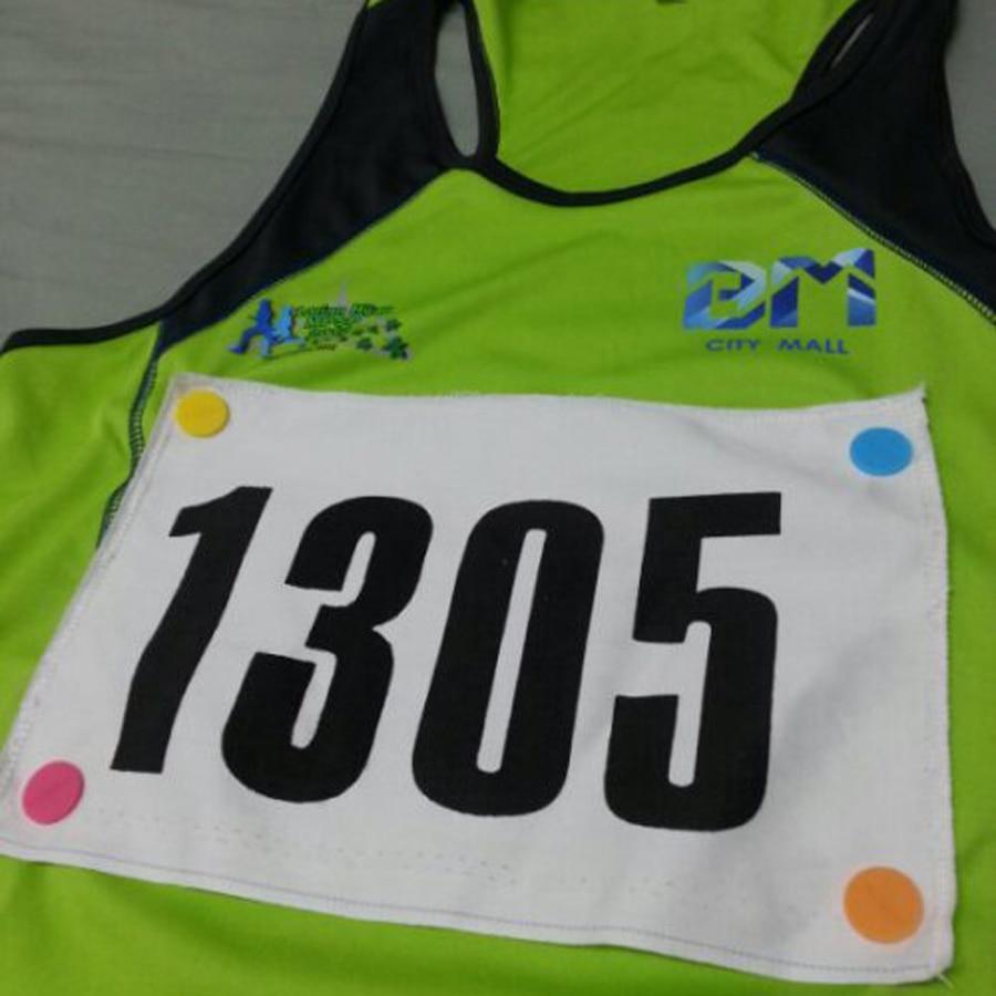 Marathon Triathlon Running Number Trail Run Cloth Buckle Number Fixing Clip Race Bib Number For Belt Bag Cloth Accessories