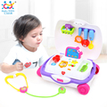 2016 New Baby Toys Kids Doctor Suitcase Pretend Play Toy with Music & Light Electronic Doctor Nurse Medical Play Toys Set Gifts
