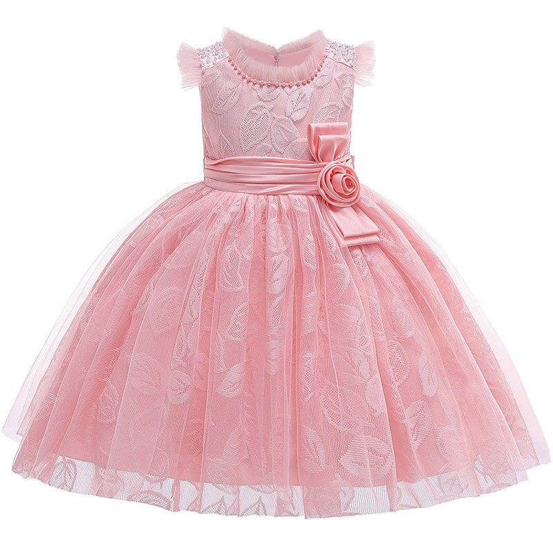 Image 5 - Little Kids Satin First Communion Dresses Glitz Ball Gown Pageant Dress Flower Girl dresses for Weddings banquet Back Dress-in Flower Girl Dresses from Weddings & Events
