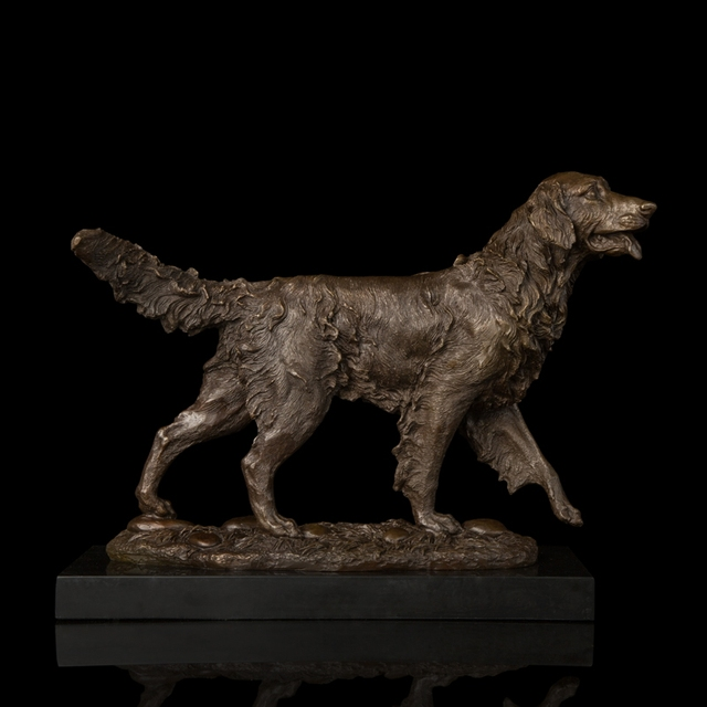Merveilleux Arts Crafts Copper Door To Door High Quality Bronze Sculptures Golden  Retriever Dog Statue Home Decoration