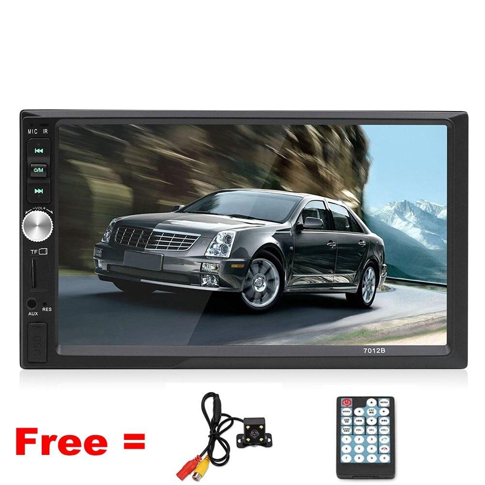 Автомобильный мультимедийный плеер Bluetooth зеркальная ссылка автомобиля MP5 видео AM FM Авто Радио Аудио с камерой пульт дистанционного управле...