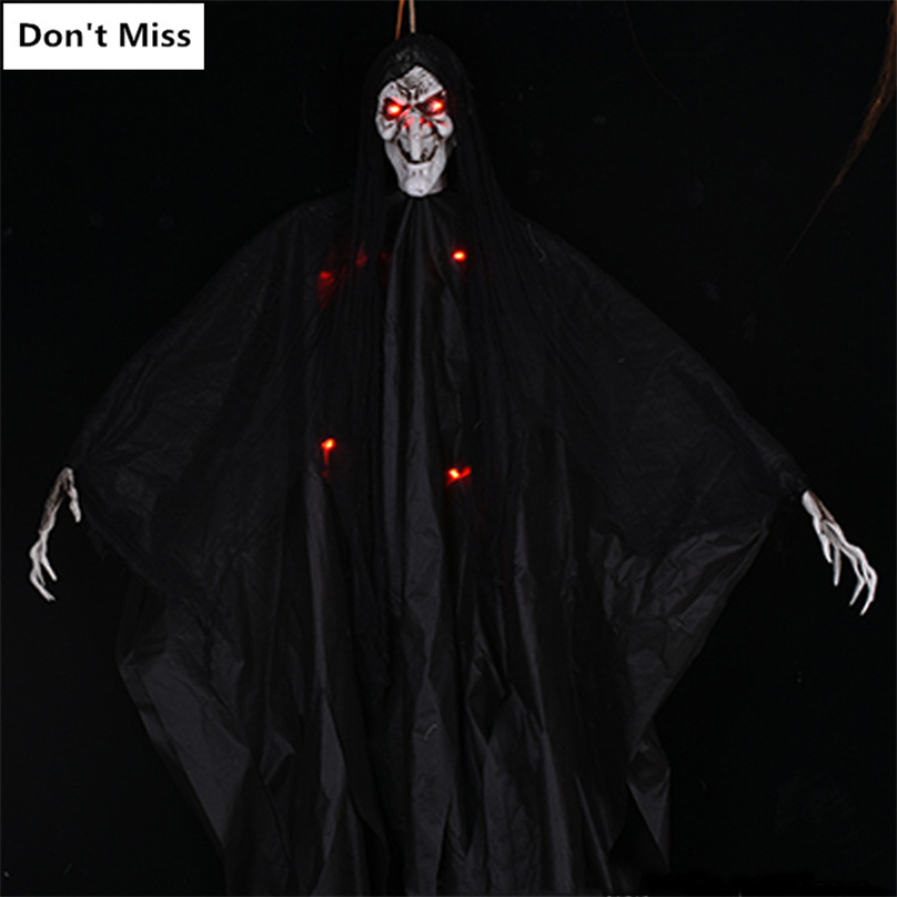 Black Eyed White Ghost Hanging Prop Scary Halloween Haunted House Decoration
