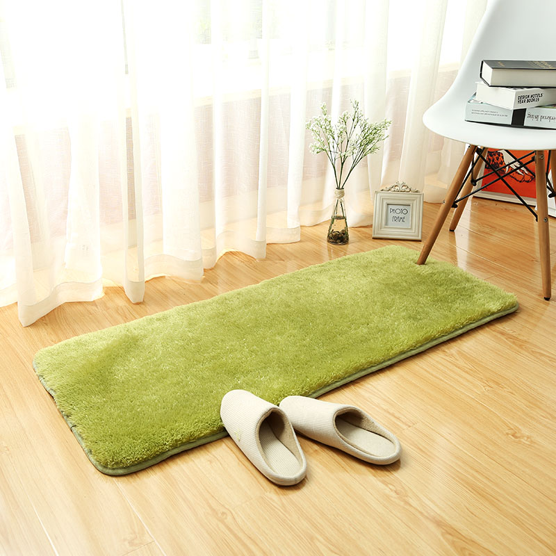 Thickened Bedmat In Living Room Large Bathroom Carpet For Toilet Solid Door Carpet Bed Rugs For Living Room WC Mats In Bathroom