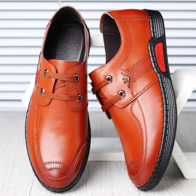 Mocasin Casual 2018 orange Marque De Chaussures Mode Up Hommes Hombre New En Loisirs Red Black Lace Cuir Zapatos OraqOxPHw