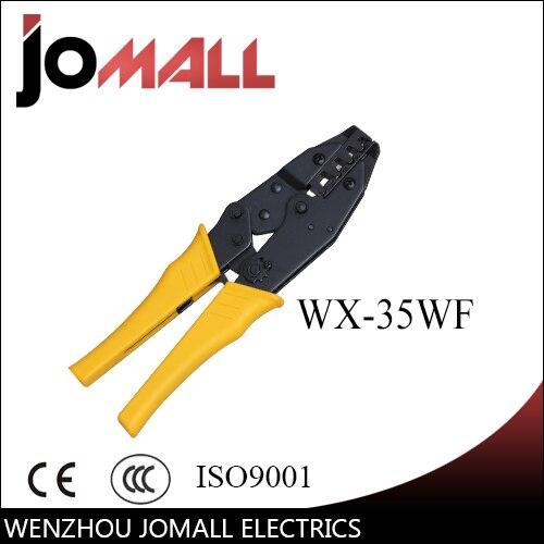 SAMSFX Pince /à sertir /à main robuste avec 4 positions de sertissage jusqu/à 2,2 mm et coupe lat/érale en fil dacier