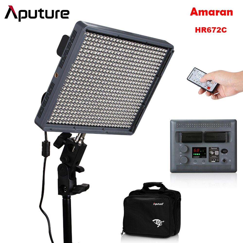 Aputure Amaran HR672C CRI 95+ LED Studio Video Photo Camera Light Color Temperature Adjustable with 2.4G Wireless Remote Battery