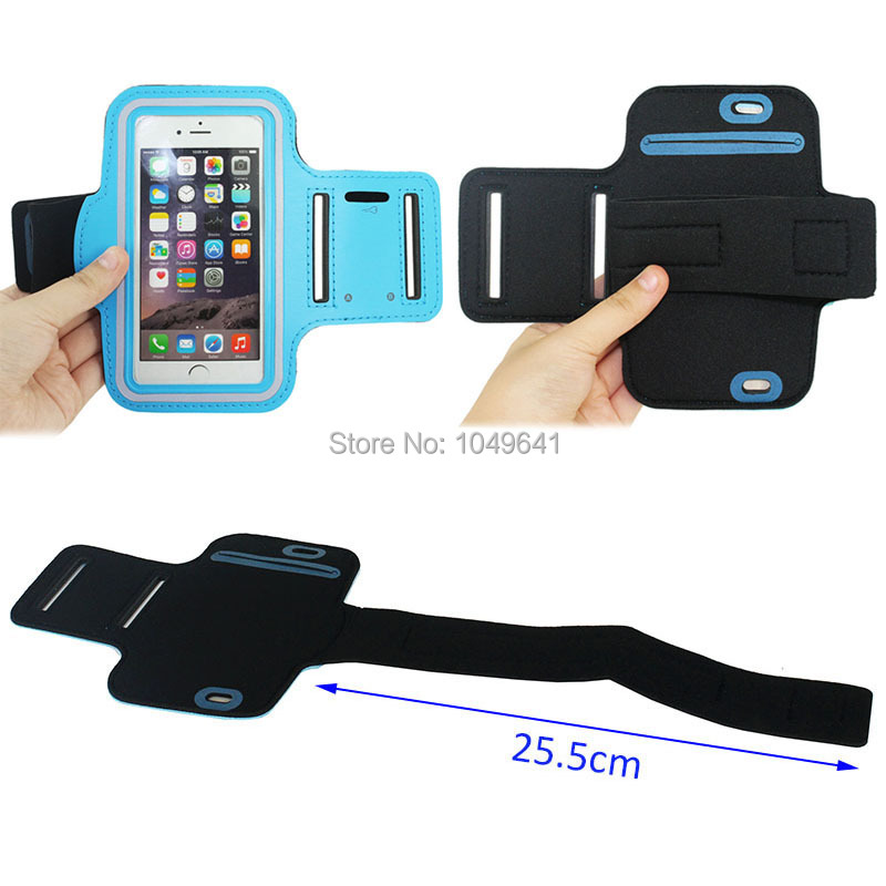 KIP6-1322_4_Sport Armband Case with Earphone Hole & Key Pocket for iPhone 6 & 6S  HUAWEI Y3 II  ZTE Blade GF3  and Less than 4.7 inch Mobile Phone