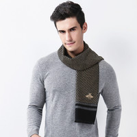 New 2017 Men European and USA Honeycomb Scarf Fashion Boys Bee Autumn Winter Warm Scarves Male Shawl Wrap Muffler Neckerchief