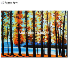 wall art oil paintings sticker trees with leaves painting on canvas modern abstract pictures