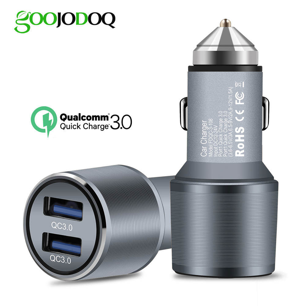 QC Quick Charge 3.0 Dual Car Charger Adapter Cigarette Lighter Auto Mobile Phone Charger for Xiaomi iPhone X 8 7 4 5 6 Samsung