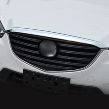ABS Chrome Front Grille Hood Engine Cover Trim car styling For Mazda CX-5 CX5 2015 2016 2017 accessories car front grille trim auto grille decoration cover for mazda 6 atenza 2014 2015 abs chrome