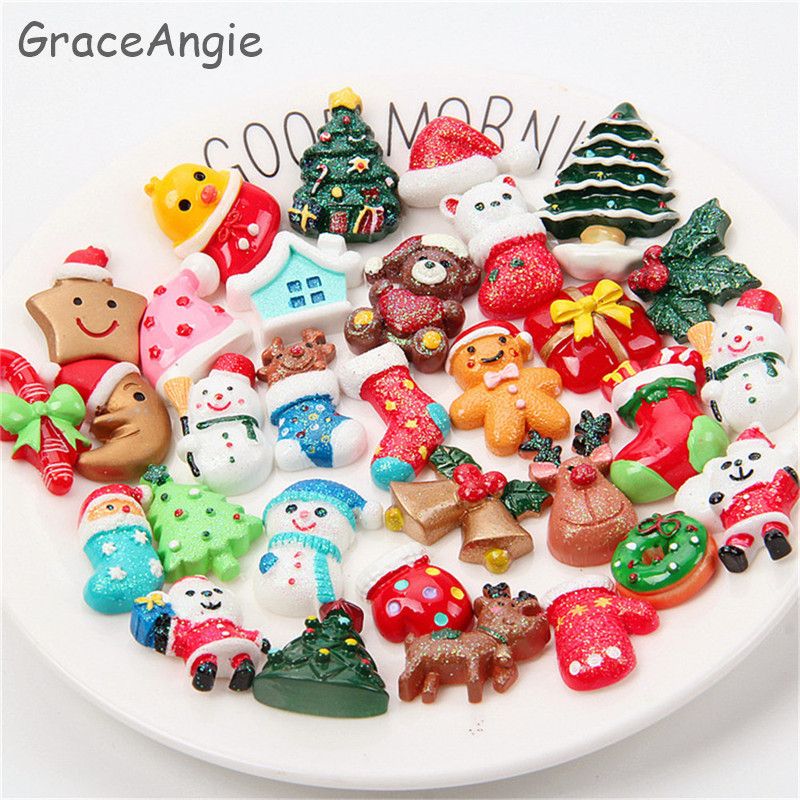 Christmas Lot Sugar ball Candy charm beads findings supplies crafts 15mm ** 6pc