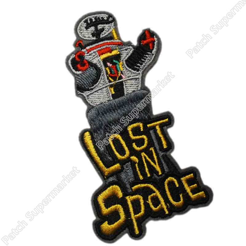 4 LOST IN SPACE Logo Uniform Movie TV Series Costume Cosplay Embroidered Emblem applique iron on