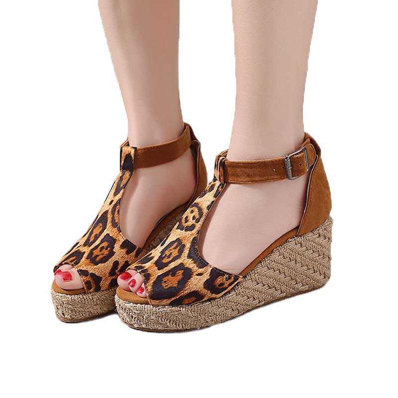 Fashion Women Sandals 2019 Summer New 8CM Heel Female Fish Mouth Exposed Toe Sandals Romanesque Ladies Shoes