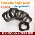 10 unids Original para el iPhone 5S botón de inicio de goma del junta de goma mat envío gratis