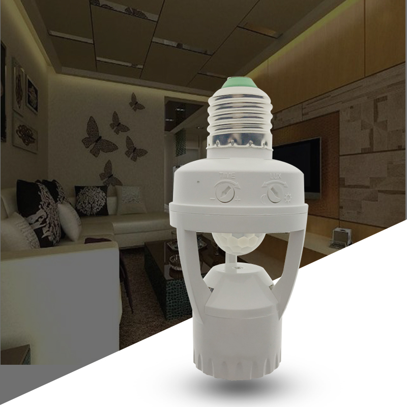 High Sensitivity PIR Human Body Motion Sensor LED Lamp With Control Switch Bulb Socket Suitable For E27 Screw Socket Light Bulbs
