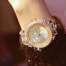 Luxury rhinestone women's watch fashion waterproof quartz stainless steel