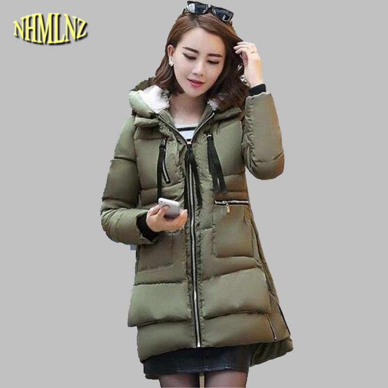 huge selection of 6ef85 dde5f US $28.62 55% OFF|Frauen Military Winter Jacke Neuesten Mode Mit Kapuze  daunenjacke Dicke Warme Baumwolle Mantel Lose Große größe Damen  Oberbekleidung ...