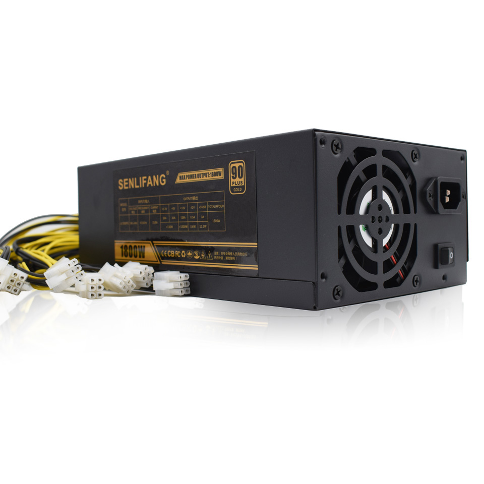 1800W Server Mining Board Power Supply DASH miners Riser psu for ANT S7 S9/A6 A7 BTC Miner Machine 80 Gold