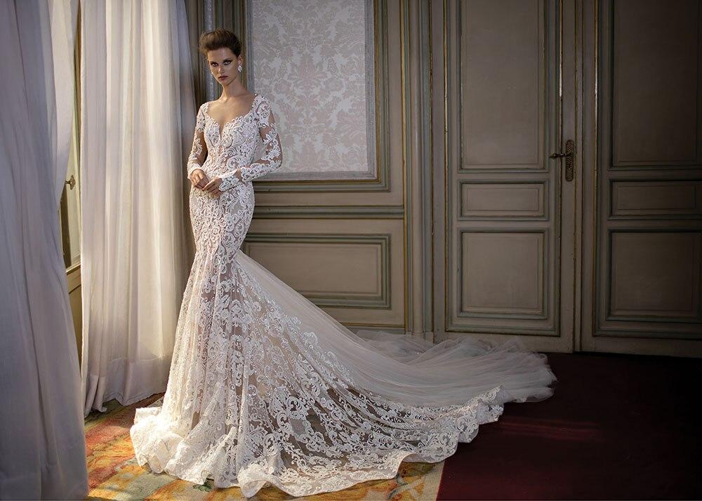 2019 vestido de casamento custom made de alta qualidade do querido fora do ombro sereia baguetes vestido de noiva lace up hot sale HA100
