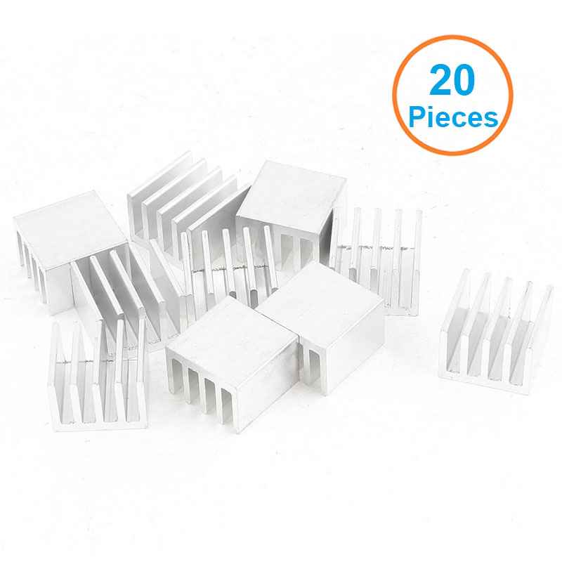 20pcs/lot Aluminum Heatsink 14x14x10mm Electronic Chip Cooling Radiator Cooler for IC MOSFET SCR,Router Heat Sink Extrusion Fins 200pcs lot 0 36kg heatsink 14 14 6 mm fin silver quality radiator