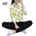 2017 New Spring Harajuku T Shirt Women Casual Long Sleeve O-neck Kawaii Popsicle Printing Tops Korean Pullover  T-shirt Mujer