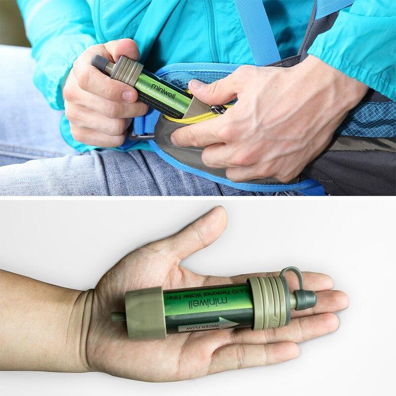 Miniwell kits de sobrevivência filtro de água