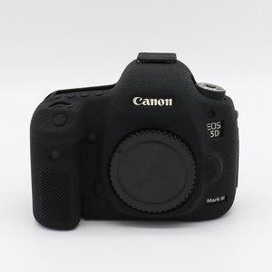 Image 4 - Silikonowy pancerz pokrywa Protector antypoślizgowe tekstury projektu dla Canon EOS 5D Mark III 3 5D3 /5Ds R/5Ds aparat tylko