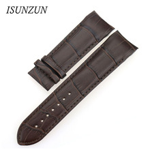 ISUNZUN For Tissot T035 1853 Men's Watch Straps Genuine leather Watch Band Nato Leather Strap Fashion Leather Watchbands цена и фото