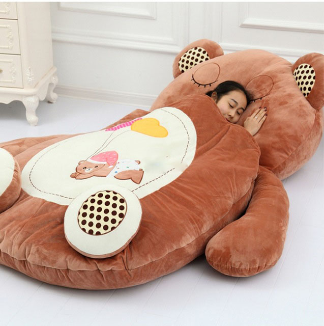 Giant Sleeping Bag Soft Plush Animal Beanbag Bed Carpet Tatami Sofa Mat 3 Models With 2
