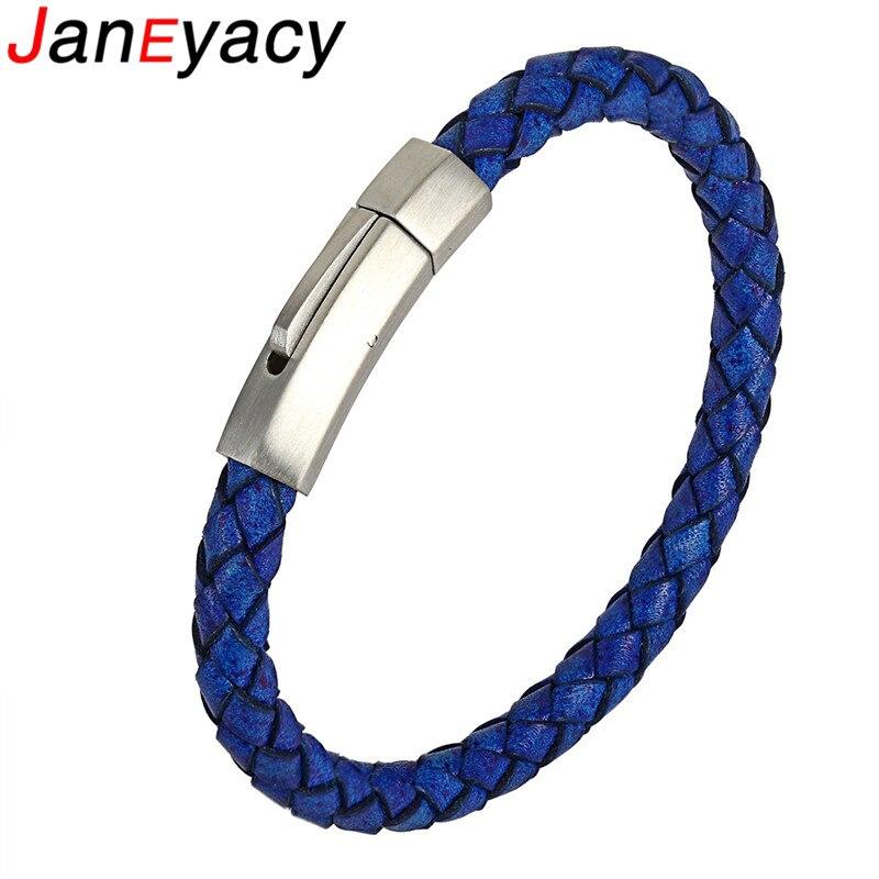 Купить мужской плетеный браслет из натуральной кожи нержавеющей стали