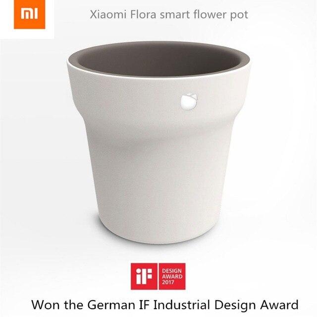 Оригинал Xiaomi Mi Флоры Смарт-Цветочный Горшок Монитор Цифровой Растения Трава Почвы Воды Свет Тестер Датчик с Bluetooth Соединение