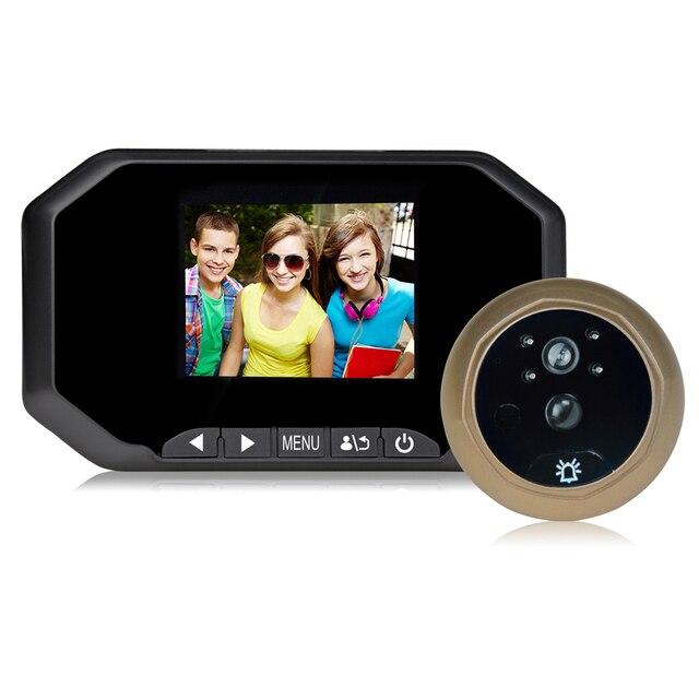 Многоязычная 3.0 Дюймов HD 2-МЕГАПИКСЕЛЬНАЯ ИК Ночного Видения Видео-Дверной Звонок