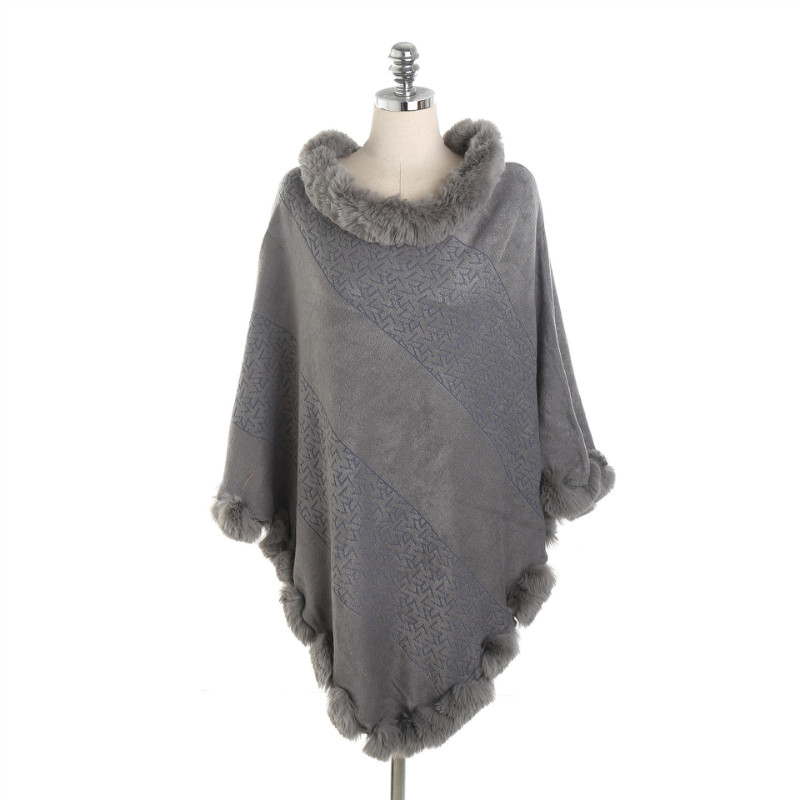 2018 Fashion Pashmina Women Scarf Warm Winter Scarf Shawl Fur Collar Cape Shawl Wraps Warm Poncho Ladies Scarves And Stoles