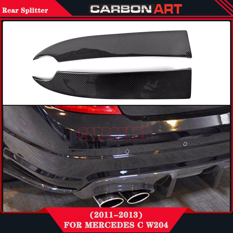 Car body parts carbon fiber rear rear racing for Mercedes benz c300 aftermarket accessories
