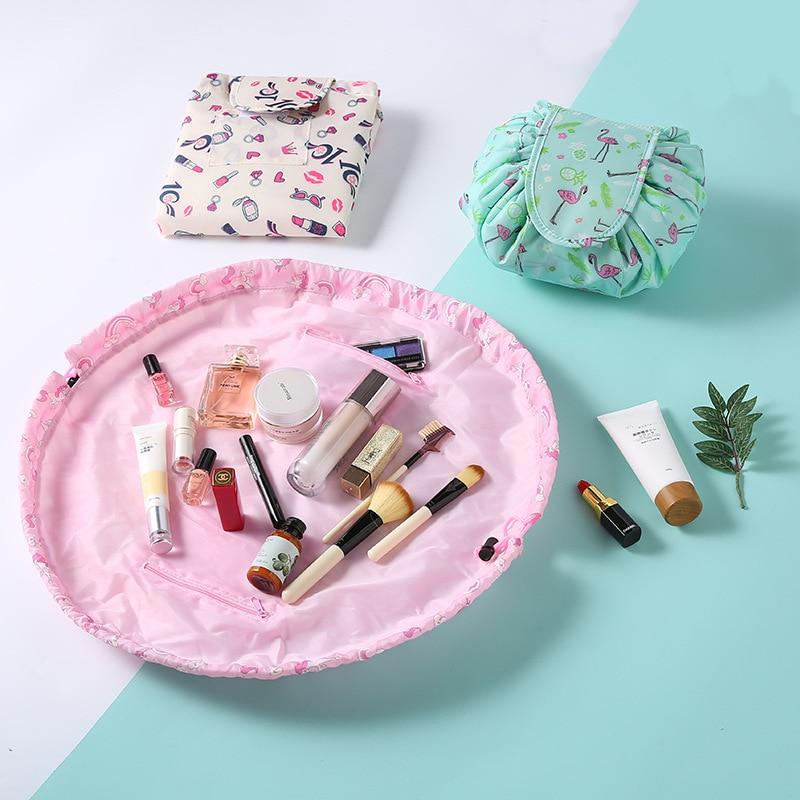 NEW Organizer Large-capacity Drawstring Travel cosmetic bag Makeup bags storage bag magic Pouch Toiletry Beauty Kit Box Wash Bag 4