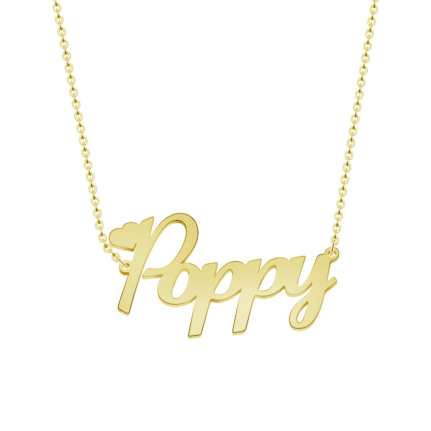 custom name necklace personalized jewelry silver nameplate. Black Bedroom Furniture Sets. Home Design Ideas