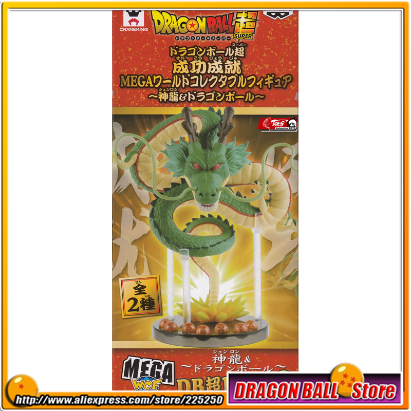 Japan Anime Dragon Ball Z Original BANPRESTO WCF Series MEGA Figure MG02 - Shenron / Shenlong (with 7 pieces of dragonball) original banpresto world collectable figure wcf the historical characters vol 3 full set of 6 pieces from dragon ball z