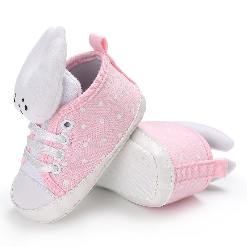 2017 New Infant Newborn Baby Girl Lovely Cute Rabbit Shoes First Walker Lovely Animal Casual Soft Bottom Shoes