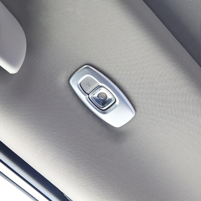 ABS Chrome Interior Rear Roof Reading Light Cover Trim For Honda Civic 2016-2018