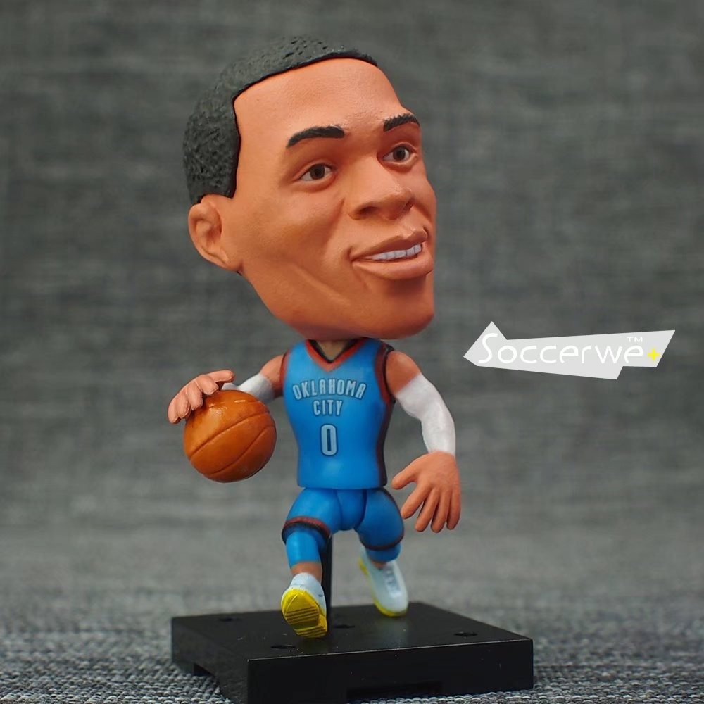 New KODOTO SoccerWe Russell WESTBROOK movable moving Basketball player star display collection dolls toys ...