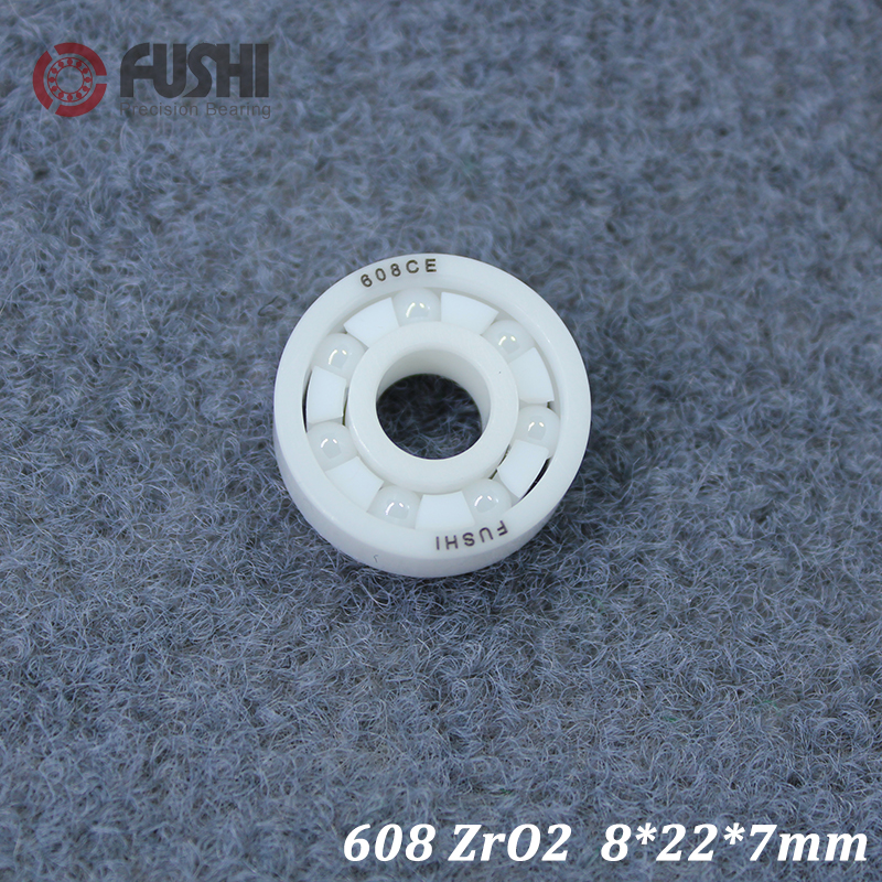 608 Full Ceramic Bearing ( 1 PC ) 8*22*7 mm ZrO2 Material 608CE All Zirconia Ceramic Ball Bearings image