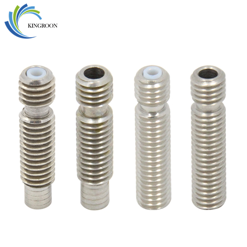 5pcs/lot V5 Stainless Steel Throat M6*26 With Teflon Tube Thread For 1.75mm 3mm Filament 3D Printers Parts All Metal Part 5pcs 304 stainless steel capillary tube 3mm od 2mm id 250mm length silver for hardware accessories