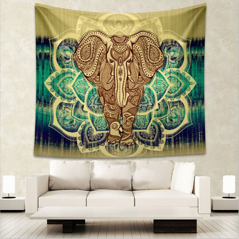 How To Hang A Tapestry On The Wall indian elephant mandala tapestry hippie wall hanging tapestries