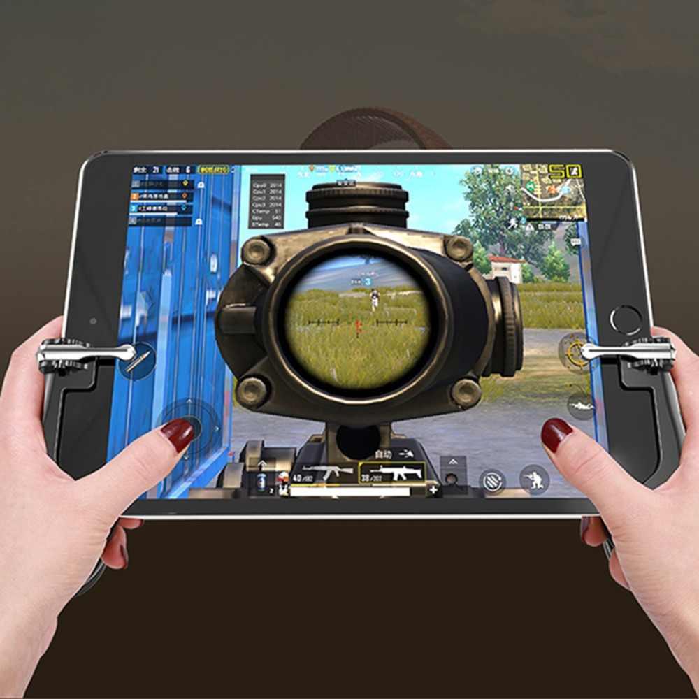 Для мобильного управления PUBG Aim Trigger для Ipad Tablet сотовый телефон геймпад триггер пожарная Кнопка L1R1 шутер управление Лер джойстик