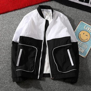 New 2019 Fashion splice Jacket Men Brand New Spring and Summer Slim Fit Mens Casual Varsity Jackets and Coats Plus Size 3XL Jackets