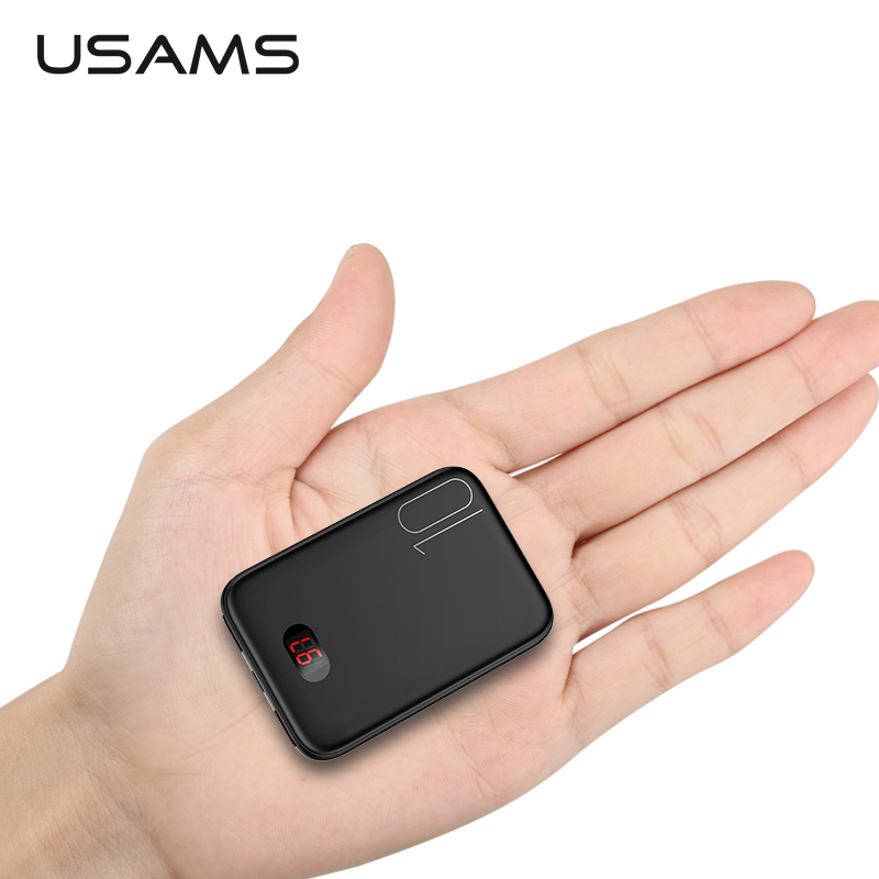 USAMS Power-Bank External-Battery Xiaomi Mi Fast-Charging iPhone 10000mah Led-Display title=